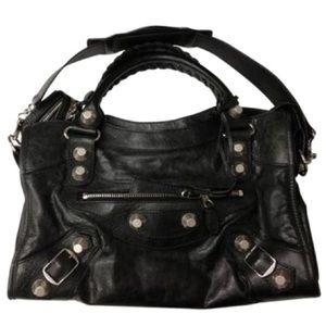 Balenciaga Giant 21 City Bag (Black/Silver)